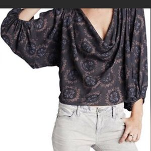 ❤️Free people cowling around blue top small